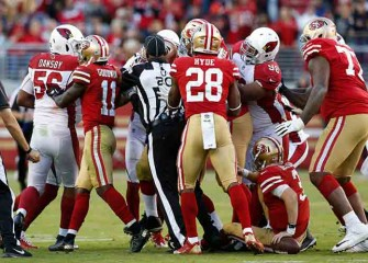 Watch: Three Players Ejected After Cardinals, 49ers Start Fight