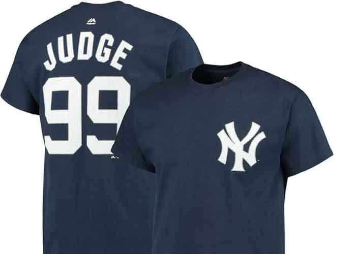 Get The Gear: Men's New York Yankees Aaron Judge Majestic Navy Official T-Shirt