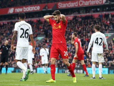 Liverpool's Adam Lallana To Miss Several Months With Thigh Injury