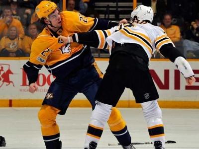 Watch: Adam McQuaid Beats Derek Grant In Fight In Bruins' 2-1 Loss To Predators