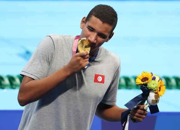 Tunisian Swimmer Ahmed Hafnaoui Shocks World, Wins Gold