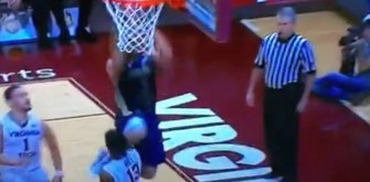 Virginia Tech Player Gets Called On A Foul After Taking Knee To The Head