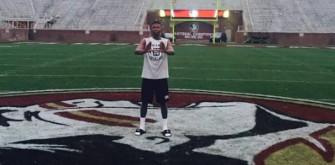 "University of Miami Recruit Al Blades Jr. Flashes ""The U"" On FSU 50-Yard Line"