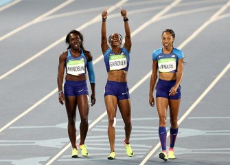 U.S. Women Drop Baton In 4x100M Relay, But Reach Final Thanks To Second Chance