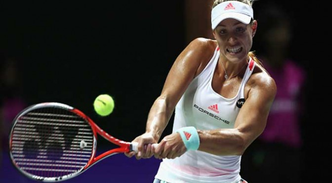 Angelique Kerber Beats Simona Halep To Reach WTA Finals Last Four