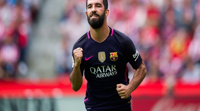 Arda Turan, Gerard Pique Score To Lift Barcelona To 2-1, Come-From-Behind Win Over Borussia Mönchengladbach
