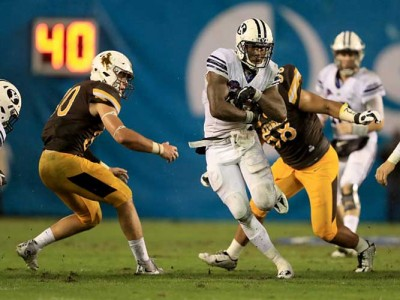 BYU Holds Off Wyoming's Late Rally To Win Poinsettia Bowl 24-21