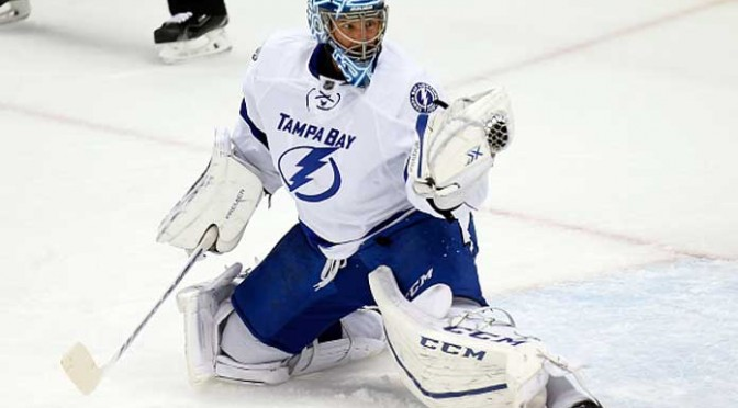Lightning Goalie Ben Bishop Loses Front Teeth After Shot To Mask In 7-3 Win Over Maple Leafs
