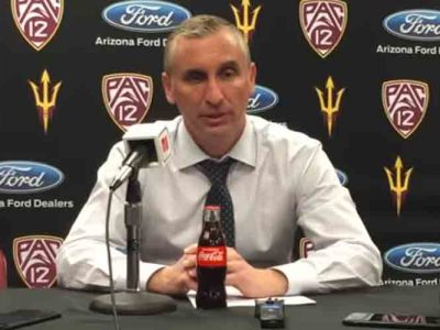 Arizona State Coach Bobby Hurley Accidentally Hit In Face By Ball, Team Beats Arizona [VIDEO]
