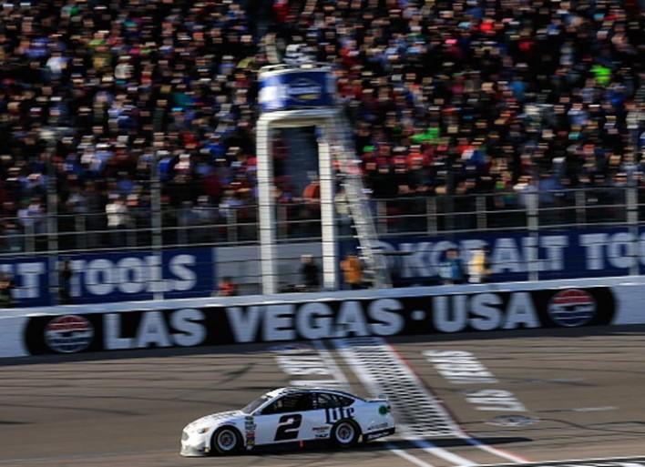 Brad Keselowski Races Past Kyle Busch To Win in Sin City