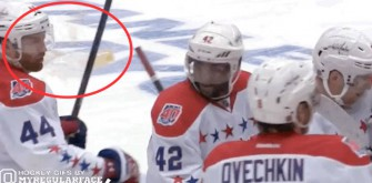 Washington Capitals' Brooks Orpik Nailed With A Beer After Overtime Win Against Islanders