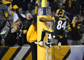 Steelers Crush Colts; Antonio Brown Hops On Goal Post For TD Celebration