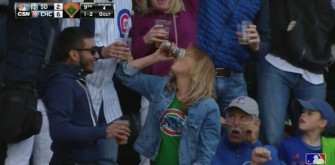 Chicago Cubs Fan Catches Foul Ball With Full Beer Cup