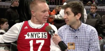 'Late Show' Intern Has Fun With Basketball Players During All-Star Weekend