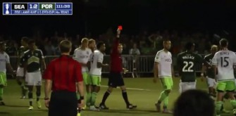 Clint Dempsey Receives Red Card For Ripping Referee's Notebook