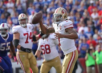 T-Shirts Sold Outside Bills' 45-16 Win Vs 49ers Include Rifle Sight On Colin Kaepernick In QB's First Start