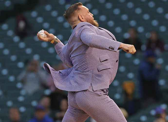Conor McGregor Delivers Awful First Pitch At Wrigley Field