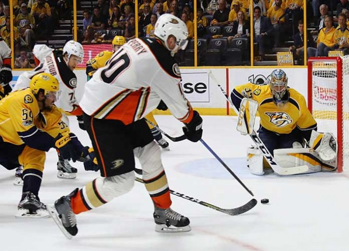 Watch: Corey Perry Scores In OT, Ducks Beat Predators 3-2 In Game 4 To Tie Series