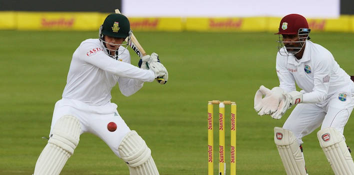 South Africa Tees Off Against West Indies in Cricket Test Match