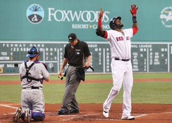 Red Sox Honor David Ortiz With Giant Portrait in Fenway Park Grass