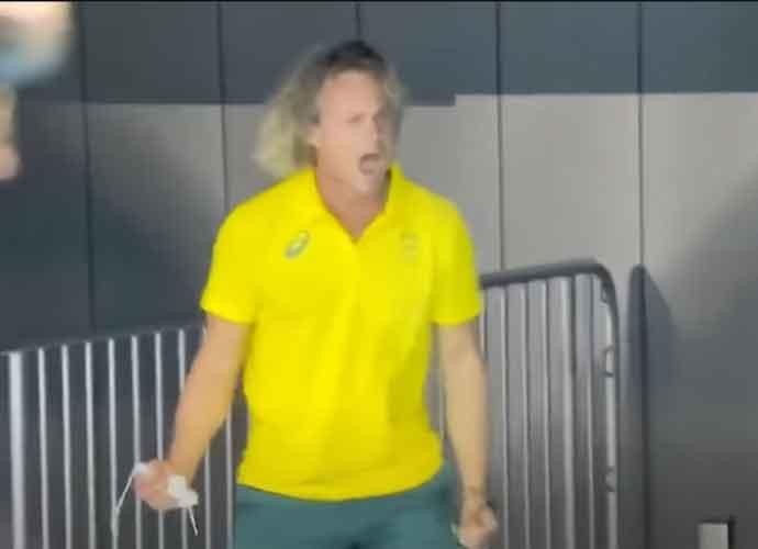 Australian Swim Coach Dean Boxall Goes Viral For Celebration