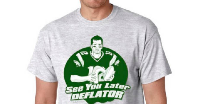 New York Jets Fans Create 'See You Later Deflator' Shirt