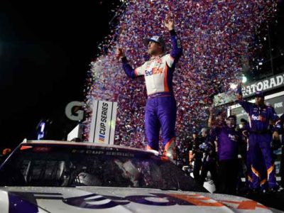 Denny Hamlin Wins Darlington 310 In The Rain For His Second Win Of The Season