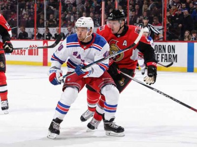 Senators Beat Rangers 3-2 To End Five-Game Losing Streak