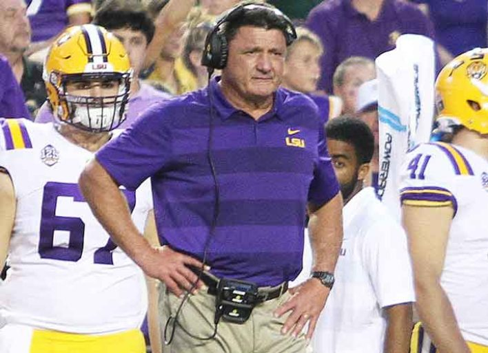 LSU Coach Ed Orgeron Says 'Most' Of His Players Have Contracted COVID-19