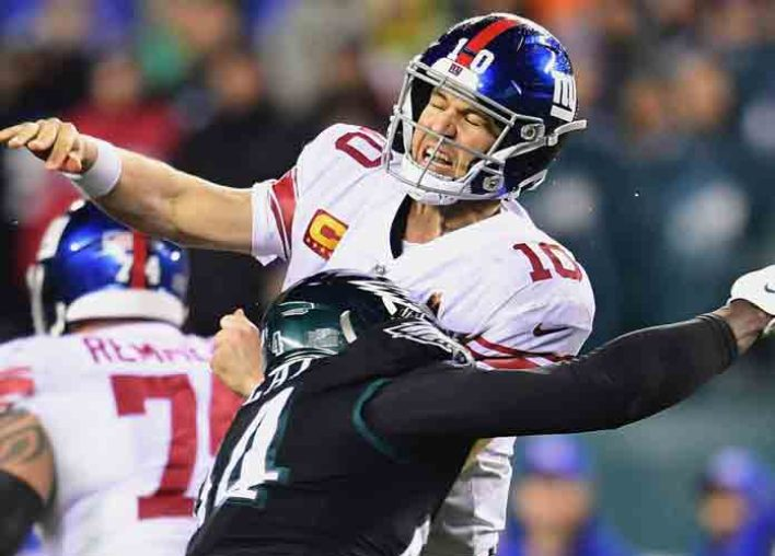 Eli Manning Passes Ben Roethlisberger For 7th On TD List, But Giants Lose To Eagles 23-17 In OT [VIDEO HIGHLIGHTS]