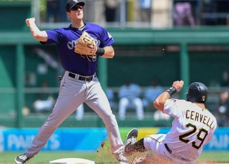 Pirates' Ryan Vogelsong Hit In Face By Pitch In 6-3 Home Win Over Rockies