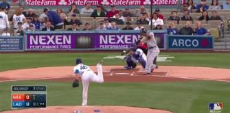 Giancarlo Stanton Smashes Home Run Out Of Dodgers Stadium