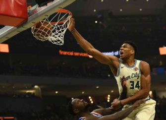 Giannis Antetokounmpo Unleashes Dunk On Julius Randle En Route To Bucks 132-88 Win