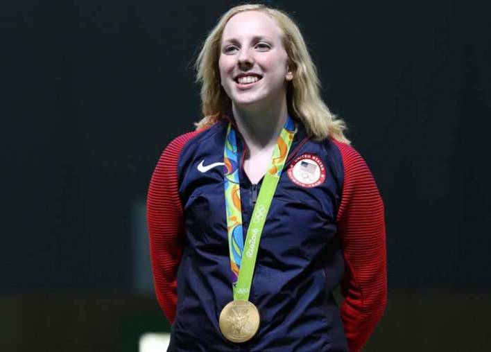 USA Teen Ginny Thrasher Wins First Gold Medal Of Rio Olympics