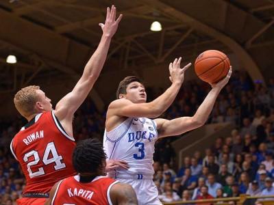 Watch: Duke's Grasyon Allen Shoves NC State Player In Blue Devils' 84-82 Loss