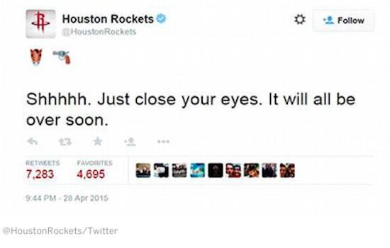 Houston-Rockets, Twitter