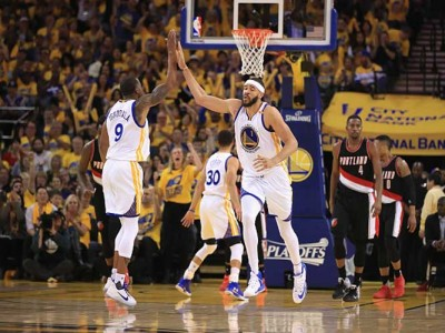 NBA Playoffs: JaVale McGee, Warriors Rout Blazers 110-81 Without Kevin Durant To Take 2-0 Series Lead