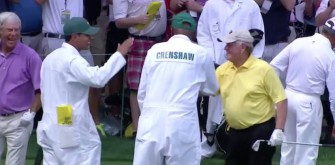 Legend Jack Nicklaus Hits Hole-In-One During Masters Par-3 Competition