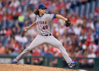 Watch: Jacob DeGrom Dominates, Gets Hit In Arm In Mets' Rout Of Phillies