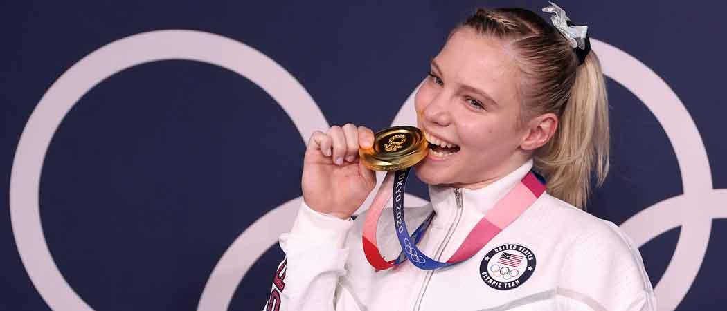 U.S. Gymnast Jade Carey Wins Olympic Gold In Floor Exercise