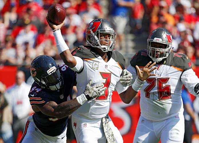 Watch: Bucs QB Jameis Winston Throws Insane, 39-Yard Pass to Mike Evans In 36-10 Win Over Bears