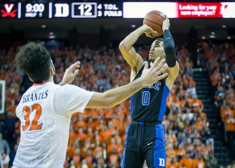 Jayson Tatum Scores 28 As No. 12 Duke Rolls Past No. 14 Virginia, 65-55