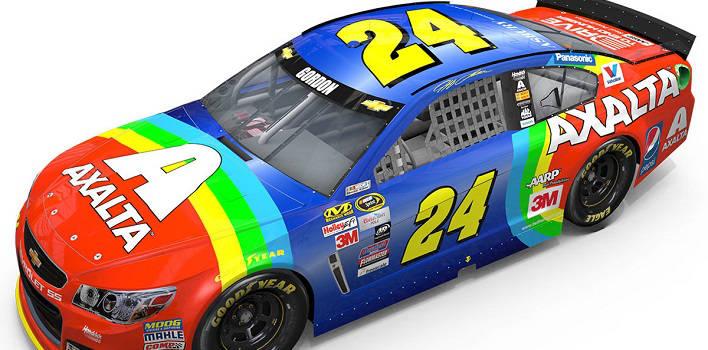 Jeff Gordon Bringing Back Rainbow Car For Bristol