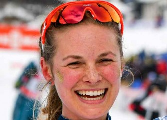 Jessica Diggins, Kikkan Randall Win USA's First Gold In Women's Cross-Country Skiing [VIDEO]