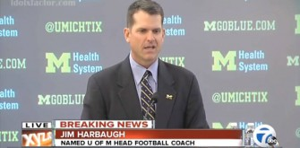 University of Michigan Welcomes Jim Harbaugh At Press Conference