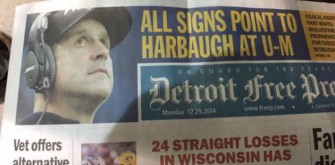 The Detroit Free Press Uses Wrong Harbaugh Picture