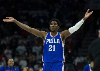 Sixers' Joel Embiid Leaps Out Of Bounds & Frightens Regina King; Actress Reacts On Twitter [VIDEO]