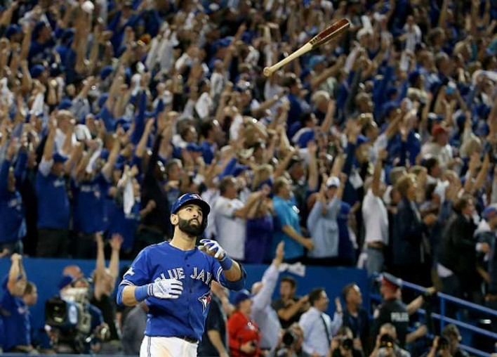 Watch: Jose Bautista Flips Bat After Solo Homer, Benches Clear In Blue Jays' Loss To Braves