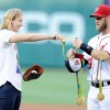 Katie Ledecky Throws Out First Pitch At Nationals Park, As Washington Falls 10-8 To Orioles