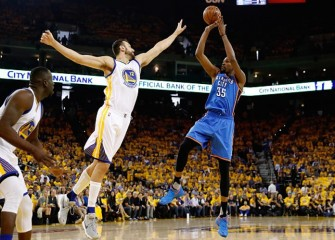 Kevin Durant And Russell Westbrook Lead Thunder Past Warriors 108-102 In Game 1